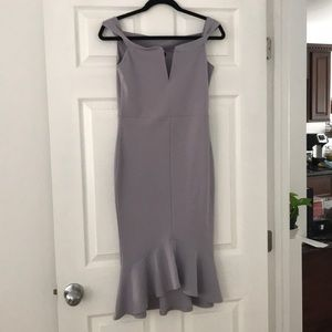 Fitted lilac dress